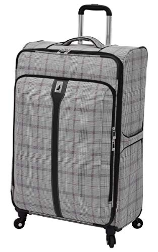Plaid Luggage Sets (London Fog Knightsbridge 29-Inch Exp Spinner (Grey/Burgundy Glen Plaid))