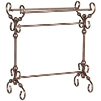 Southern Enterprises Blanket Rack in Antique Style Bronze Finish