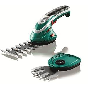 Bosch 600833172 Cordless Edging Shear Set Isio (3.6 V, Blade Length 12 cm, Tooth Spacing 8 mm, In Cardboard Box)
