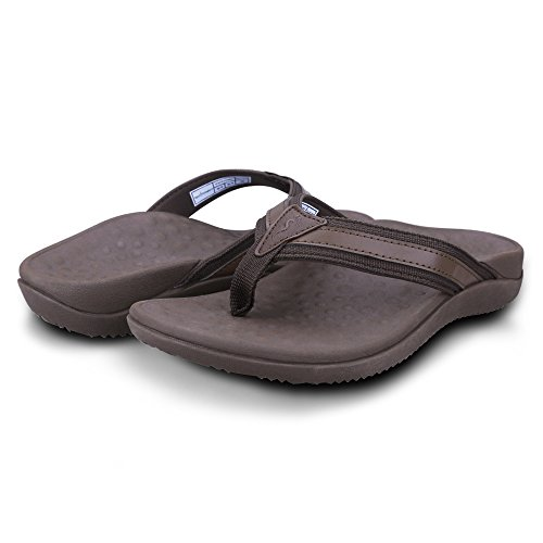 (Footminders BALTRA Unisex Orthotic Arch Support Sandals (Pair) - Walking Comfort with Orthopedic Support (Men 8 - Women 9, Cocoa Brown))