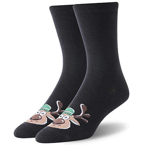 Christmas Gift Socks, SUTTOS Christmas Dress Socks For Men Crazy Socks Women's Cotton Novelty Crew socks Cartoon Cute Casual Socks Colorful Pattern Socks,Soft Warm Winter Socks,3 Pairs (Cartoon Pattern Casual)
