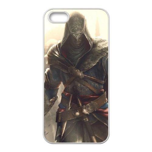 Ezio Auditore Da Firenze 017 coque iPhone 4 4S Housse Blanc téléphone portable couverture de cas coque EOKXLLNCD15491