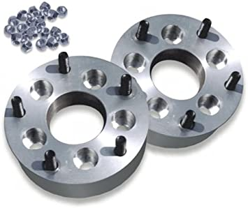 """2 USA MADE 5 Lug 4.75/"""" To 5 x 4.5/"""" Wheel Adapters 2/"""" Spacers 12mm 1.5 Studs"""