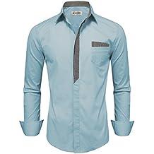 Tom's Ware Mens Premium Casual Inner Contrast Dress Shirt
