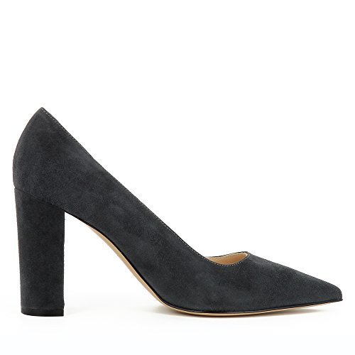 Evita Shoes NATALIA Damen Pumps Rauleder Grau