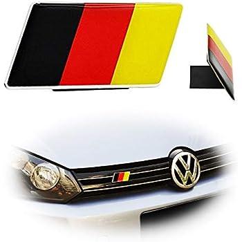 2 PCS Alloy Metal German Germany Flag Emblem Badge Self-Adhesive Sticker for Auto Car Truck Fenders Trunk Boot Windows for BMW VW Audi Porsche