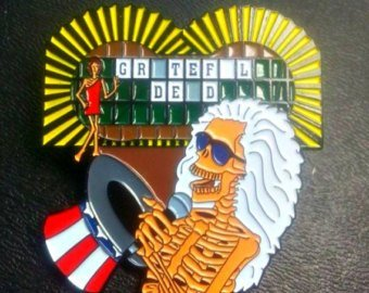 (Electric Sam Hosts The Wheel of Fortune Grateful Dead Lapel Pin)