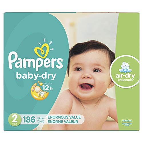 Diapers Size 2, 186 Count – Pampers Baby Dry Disposable Baby Diapers, Enormous Pack