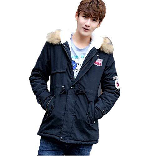 Winter Hood Cotton Outwear Jacket Jacket Jacket Jacket Schwarz Men's Hooded Softshell Winter Apparel Coat Outdoor Jacket OH8q8B