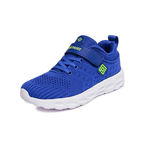 DREAM PAIRS Boys KD18001K Lightweight Breathable Running Athletic Sneakers Shoes Royal Blue Green, Size 1 M US Little Kid