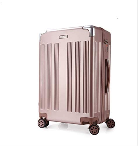 Lcslj High-end PC Drawing Rod Luggage Suitcase Universal Wheel Suitcase 20 inch 22 inch 24 inch 26 inch Color : Rose Gold, Size : S