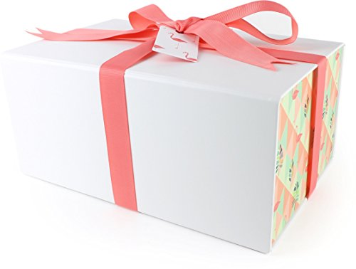 Fancy Gift Box with Beautiful Pattern for all gifts | Medium Gift Box Size: 11 x 7 x 5 inches (Tropical (New York Gift Box)