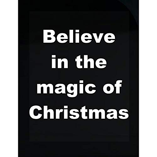 - Groovy Gifts For All Christmas - Believe in The Magic of Christmas - Transparent Sticker