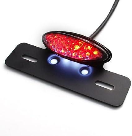 para freno trasero accesorios de montaje WASTUO Luz de freno e intermitente LED integrada 2 en 1 1 unidad para moto