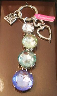 (Purse Candy Bejeweled Key Chain with Green Blue)