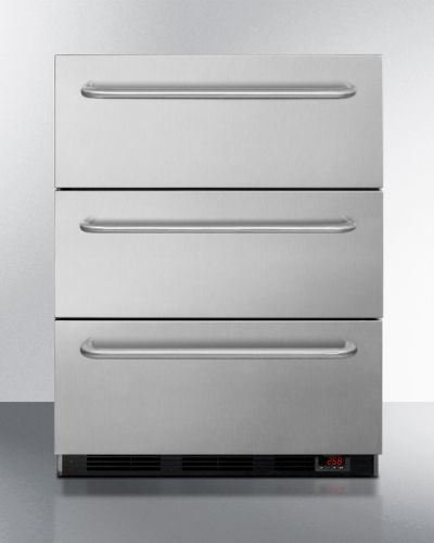 Medical Three Drawer Manual Defrost Under Counter Drawer ()