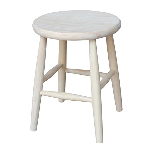 (International Concepts 1S-818 18-Inch Scooped Seat Stool, Unfinished)