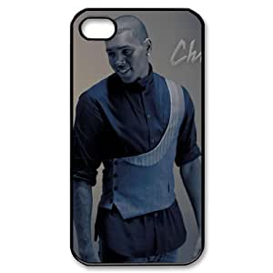 All American Cases Chris Brown Protective Hard Case Cover Skin for Apple iPhone 4/4s- 1 Pack - Black/White - 3