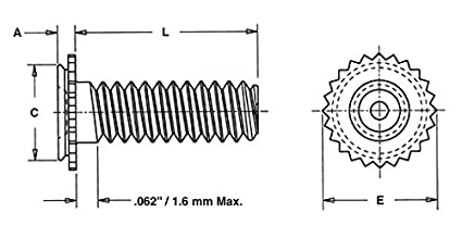 Pem Concealed-Head Studs CFHA CHC Types CHA CFHC Unified CFHA-032-6