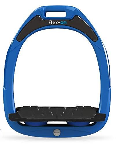 【 限定】フレクソン(Flex-On) 鐙 グリーンコンポジットレンジ Mixed ultra-grip フレームカラー: ブルー フットベッドカラー: ブラック エラストマー: ブルー 28465   B07KMQ4MYR