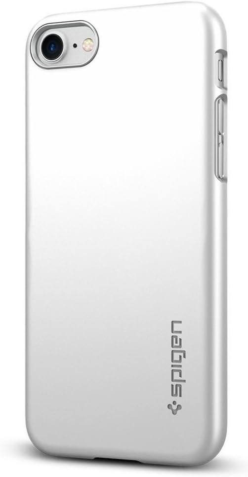 Spigen Thin Fit Designed for iPhone SE 2020 Case/Designed for iPhone 8 Case (2017) / Designed for iPhone 7 Case (2016) - Satin Silver