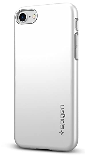 new arrivals bf3f0 50755 Spigen Thin Fit Designed for Apple iPhone 8 Case (2017) / Designed for  iPhone 7 Case (2016) - Satin Silver