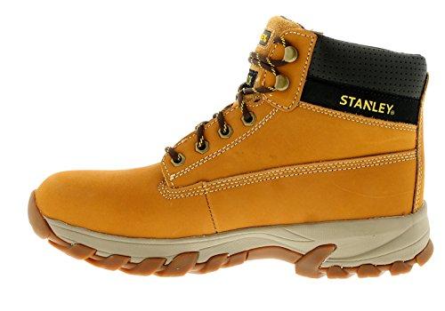 Hombre / Hombre MIEL Stanley Cordones Puntera de Acero Botas Color Miel - GB Tallas 7-12