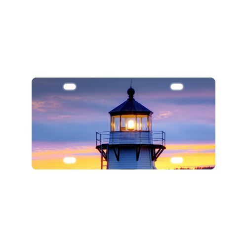 lighthouse License Plate with made from Aluminum-12