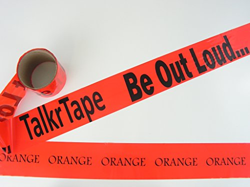 Custom Caution Tape, 100' Orange Crime Scene Tape, Made in USA by TalkrTape
