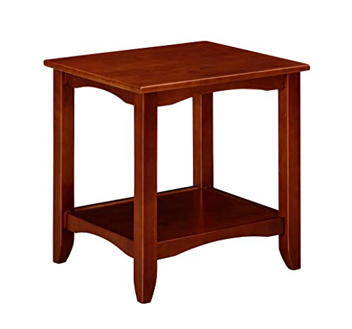 Ravenna Home Dora Class Shelf Storage Wood Side End Table Nightstand, 22