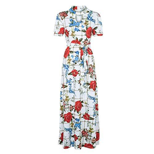 TnaIolral Women Dresses Sleeveless Dot Print Summer Party Midi Skirt