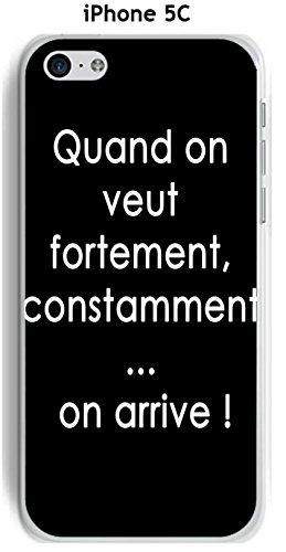 Cover Apple iPhone 5C Design citazione Quando si vuole testo bianco sfondo nero