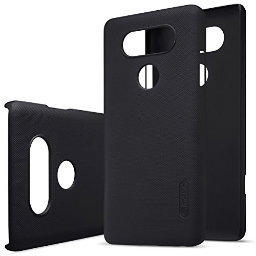 for LG V20 Slim Case, Nillkin Hard PC Slim Matte Back Cover Anti Slipping Anti Fingerprints [Super Frosted] Case for LG V20 (with Screen Protector) (Black)