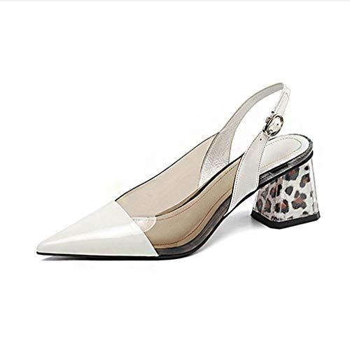 Fr 36 Épais Sandales Talons Paillettes Pour Chaussures couleur Pointues C Femmes Boucles A Dcyu À Taille TxU0O