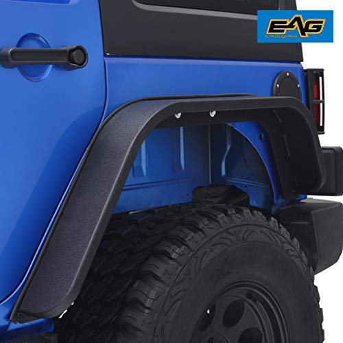 - EAG Rear Fender Flares Steel Edge 2PCS Fit for 07-18 Jeep Wrangler JK