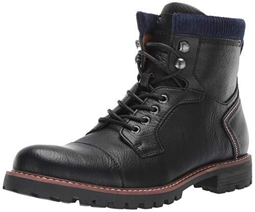 Tommy Hilfiger Men's EVINS Fashion Boot, Black, 10.5 Medium US