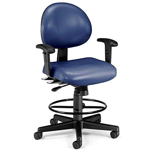 - OFM 241-VAM-AADK-65 24 Hours Anti-Microbial/Anti-Bacterial Vinyl Computer Task Chair with Arms, Drafting Kit