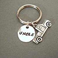 Uncle Handstamped Keyring with Truck