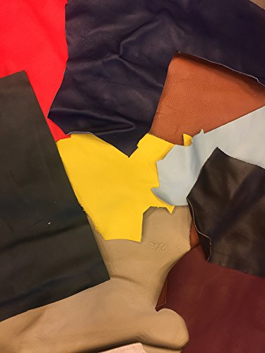 Sale Leather Scraps - Cowhide - Lambskin - Medium to Large Pieces - Various Sizes, Shapes and Colors - Remnants for All Crafts - 2 Lbs Leather Sheets - DIY Project Supply - Upholstery Trim Material