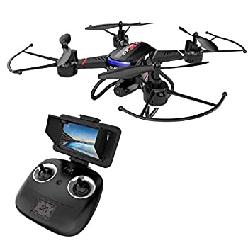 Holy Stone F181G Drone with Camera 5.8G FPV Live Video for Kids Beginners Adults Quadcopter with HD LCD Transmitter, RC Helicopter Airplane with Altitude Hold 3D Flip Headless Mode, Modular Battery 1