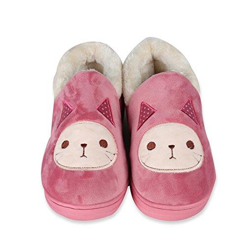 Y-Hui Super Soft Zapatillas casa piso caliente amantes zapatos zapatillas de algodón,Thirty-Nine,Azul marino