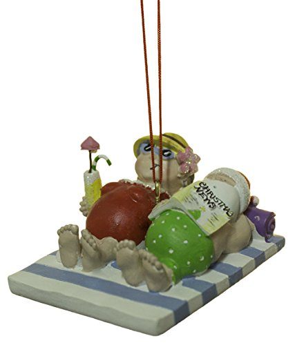 2.5 Inch Mr. and Mrs. Claus at the Beach Christmas Ornament -  Cape Shore, cs0-871-46