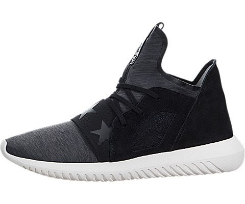 Adidas Tubular Defiant Women US 7.5 Black Sneakers