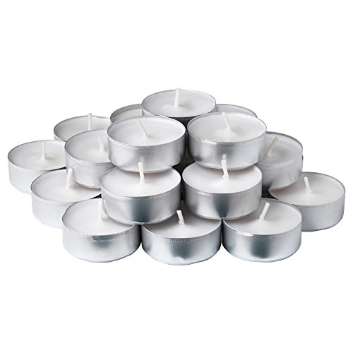 White Unscented Tea Lights 50 Count (Candle Lite Unscented Candle)