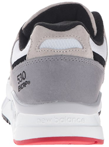 New Balance Men's 530 Lost Mixes Collection Lifestyle Sneaker White/Grey/Black