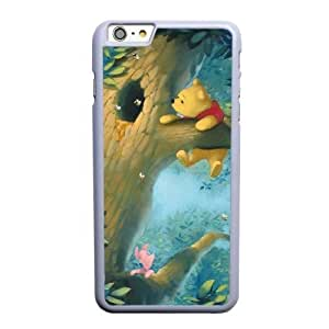 Grouden R Create and Design Phone Case,Winnie the Pooh Cell Phone Case for iPhone 6 6S 4.7 inch White + Tempered Glass Screen Protector (Free) GHL-5542467