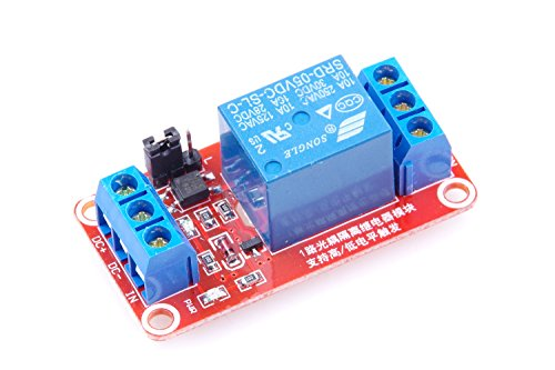 KNACRO 5V 1-way relay module With optocoupler 1-channel Relay expansion board High and low trigger With LED warning lamp (Relay Voltage)