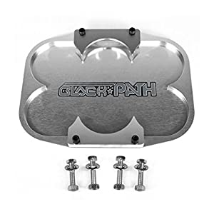 BlackPath - Optima Battery Hold Down Tray Group 34 + Group 37 Gel Cell Mounting (Silver) T6 Billet