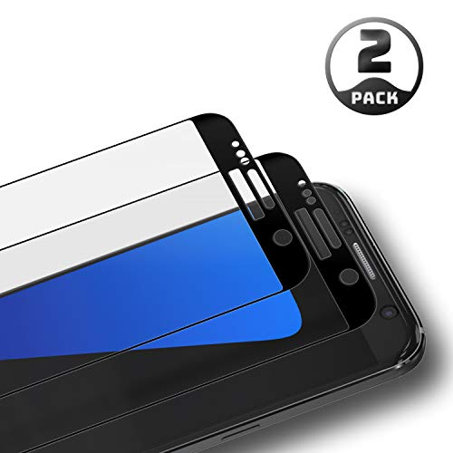 (Aribest Glass Screen Protector for Samsung Galaxy S7, 3D Curved Tempered Glass Galaxy S7, Case Friendly,9H Hardness,Bubble-Free,Premium Tempered Glass Protective Film for Samsung Galaxy S7)