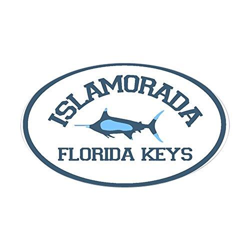 CafePress - Islamorada - Fishing Design. Sticker (Oval) - Oval Bumper Sticker, Euro Oval Car - You Fl Fit Plantation